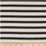226500 Designer Stretch Rayon Jersey Knit Stripes Charcoal/Beige