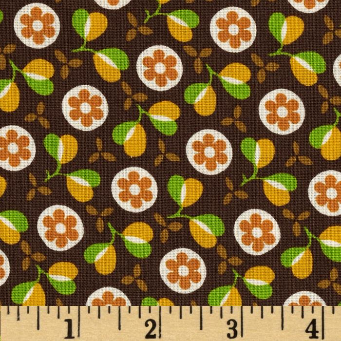 Woodstock Retro Floral Brown