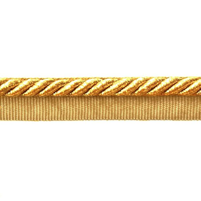 "Expo 1/4"" Gloria Metallic Twisted Lip Cord Trim Metallic Gold"