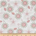 228454 Riley Blake Willow Organic Floral Pink