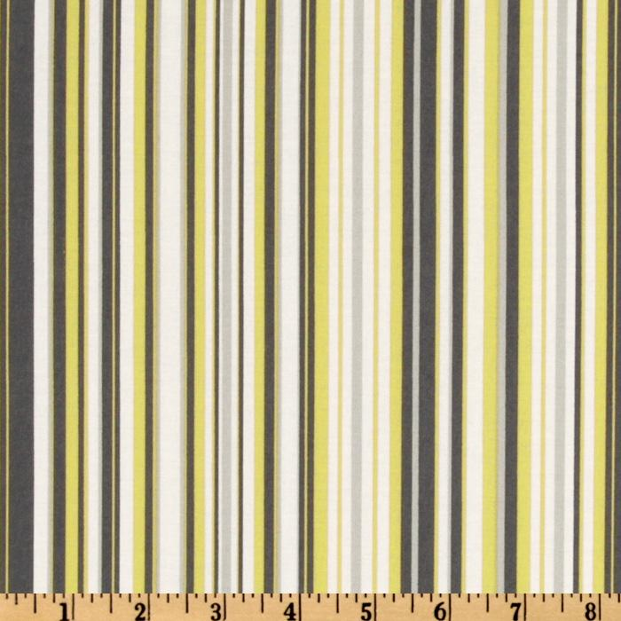 Michael Miller Citron Gray Play Stripe Citron