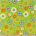 DK-546 Irving Street Flannel Flower Power Green