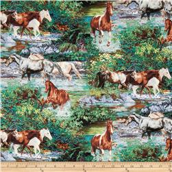 Endless Summer Horses Scenic Brown