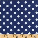 0267973 Brights &amp; Pastels Basics Aspirin Dot Navy