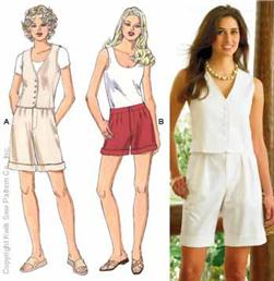 Kwik Sew Shorts and Vest Pattern
