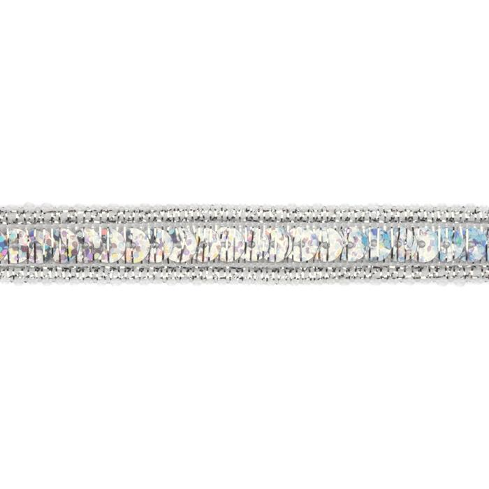 1/2&#39;&#39; Hologram Sparkle Sequin Trim Silver
