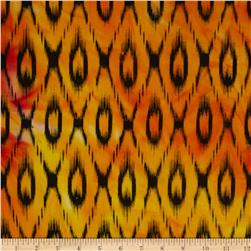 Hudson Bay Ikat Shirting Red/Orange/Black