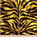 Charmeuse Satin Zebra Yellow/Black