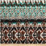 Viva Hatchi Sweater Knit Ikat Turquoise/Brown