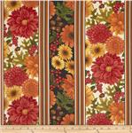 0283112 Pumpkin Spice Fall Border Stripe Cream