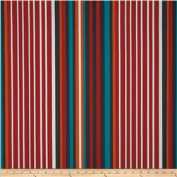 Tempo Indoor/Outdoor Cane Stripe Red/Aqua