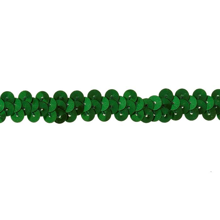"3/8"" Stretch Metallic Sequin Trim Green"