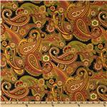 Holiday Flourish 5 Paisley Black