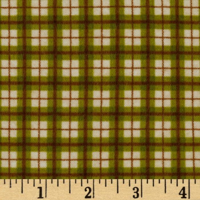 Riley Blake Elk Ridge Flannel Plaid Green