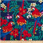 0303947 Hoffman Tropical Collection Parrots Navy