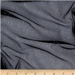 0289378 Glitter Tulle Black/Silver