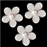 Glass Buttons 3/4'' Pointelle White Pearl