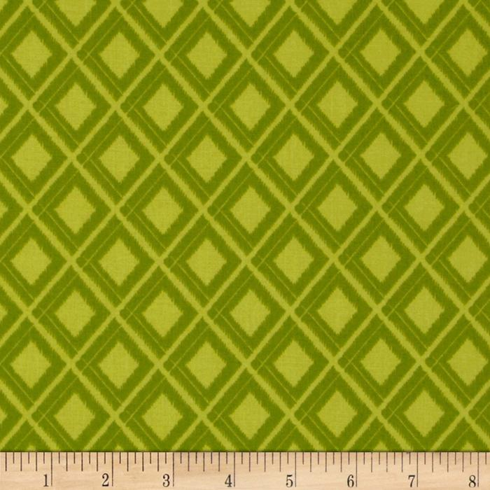 Moda Simply Color Ikat Diamond Lime Green