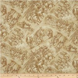 Red River III Cowboy Toile Tan