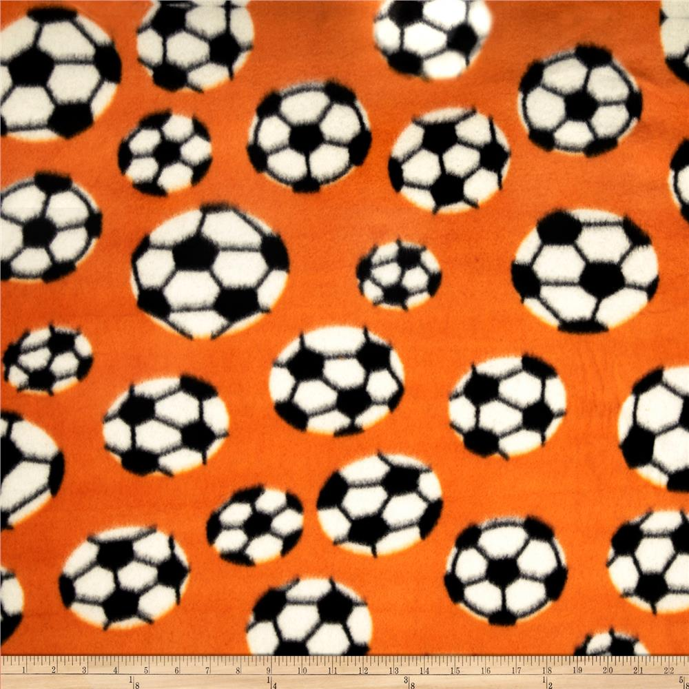 Printed Fleece Soccer Orange