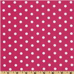 FN-303 Pimatex Basics Polka Dot Hot Pink/White