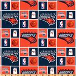FA-231 NBA Cotton Broadcloth Charlotte Bobcats Orange/Blue