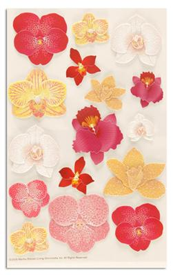 Martha Stewart Crafts Stickers Orchid Glossary Red/Gold