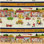 ER-772 Busytown Border Stripes Natural/Multi