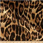 0269188 Sparkle Stretch Jersey ITY Knit Leopard Black/Gold