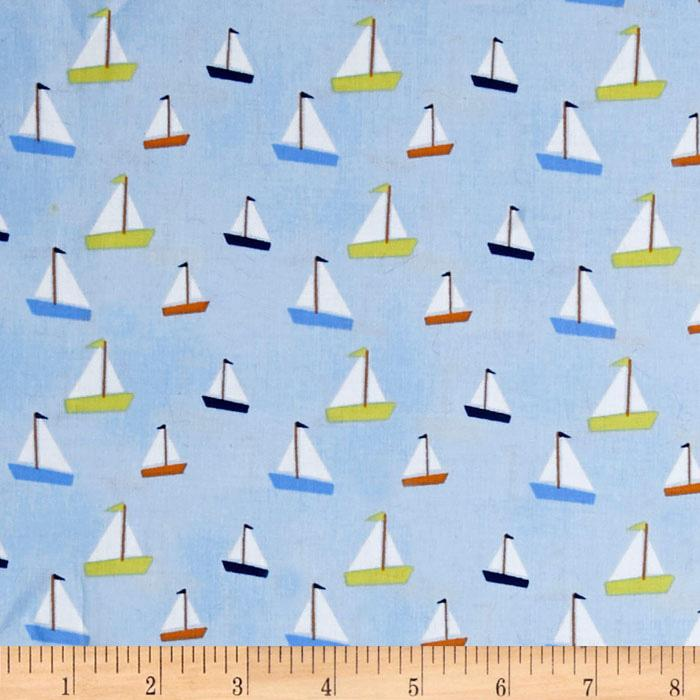 All Hands On Deck - Sailboats Blue