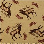 FU-997 Riley Blake Elk Ridge Tossed Elk Tan