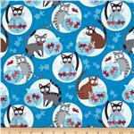 0275873 Hoodies' Collection Go Fish Cats and Fishbowls Blue