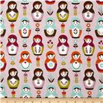 Riley Blake Little Matryoshka Dolls Purple