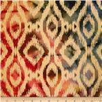 Indian Batik Ikat Orange/Green