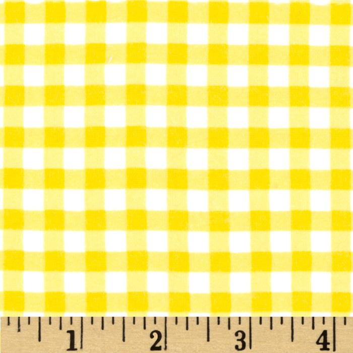 Riley Blake Medium Gingham Flannel Yellow