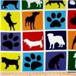227374 Winterfleece Dogs & Paws Blocks White