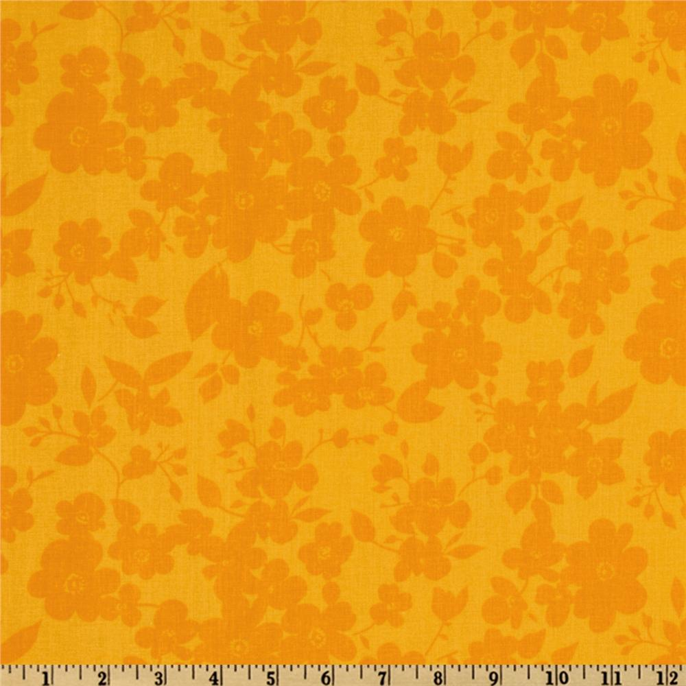 108'' Quilt Backing Spin Floral Yellow