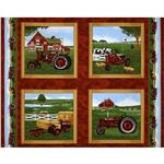 Farmall International Harvester Red Tractor Panel Red/Green