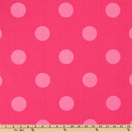 Premier Prints Oxygen Dots Candy Pink/Pink