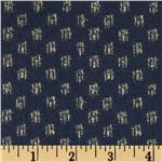 Moda Kasuri Ikat Dot Dusty Blue