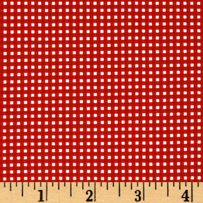 Michael Miller Mini Mikes Tiny Gingham Cherry