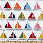 FR-609 Michael Miller Shore Thing Sailboats Sailor White