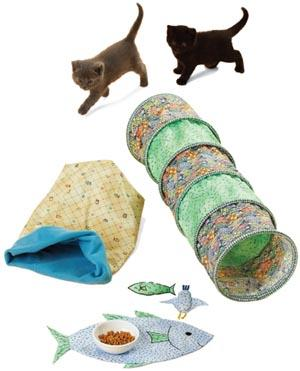 Kwik Sew Cat Tunnels, Snuggle Sack, Placemat &amp; Toys