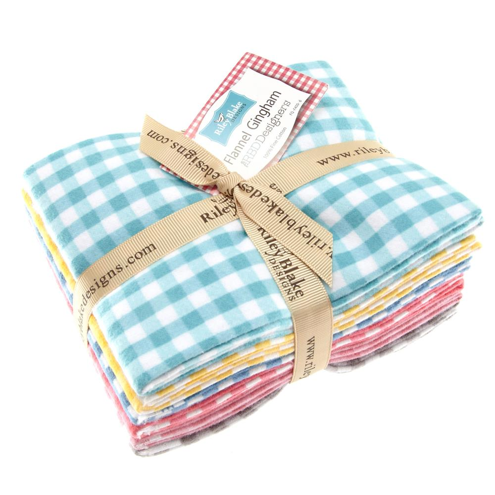 Riley Blake Basics Flannel Gingham Fat Quarter Assortment