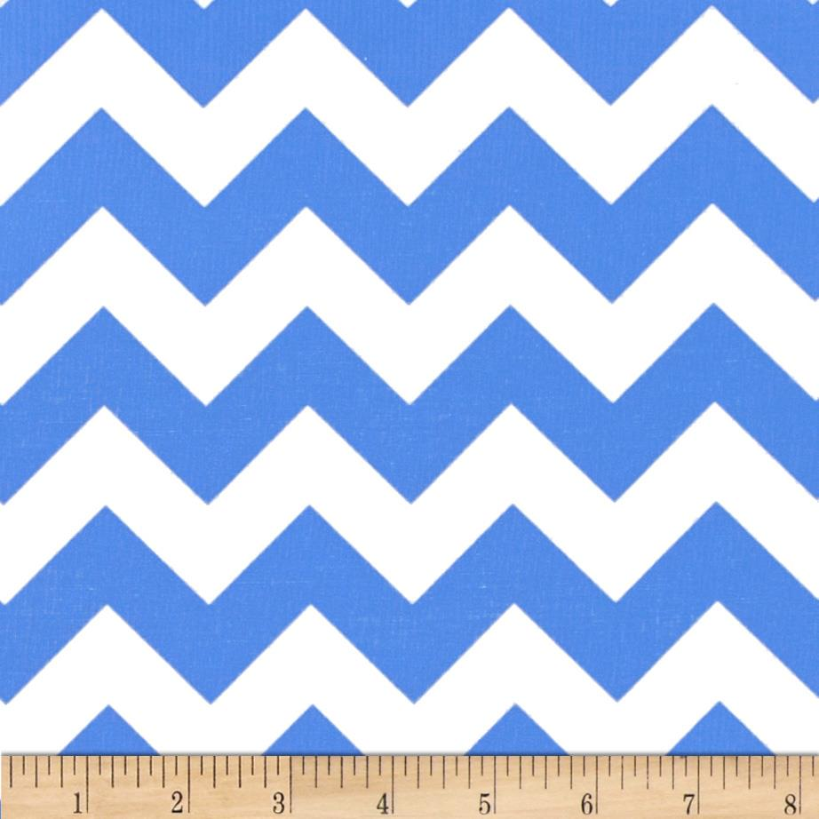"Riley Blake 58"" Manufactures Cut Medium Chevron Medium Blue"