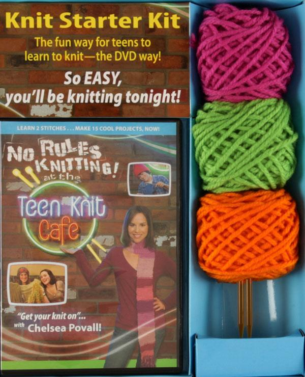 No Rules Knitting at the Teen Knit Café DVD Kit