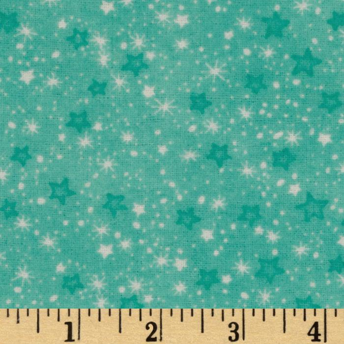 Comfy Flannel Stars Aqua