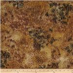 0263656 Onion Skin Knit Sketch Floral Gold/Brown