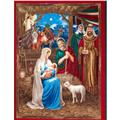 First Noel Nativity Panel Metallic Multi
