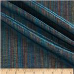 0269882 Bejeweled Metallic Shot Cotton Stripes Turquoise/Multi